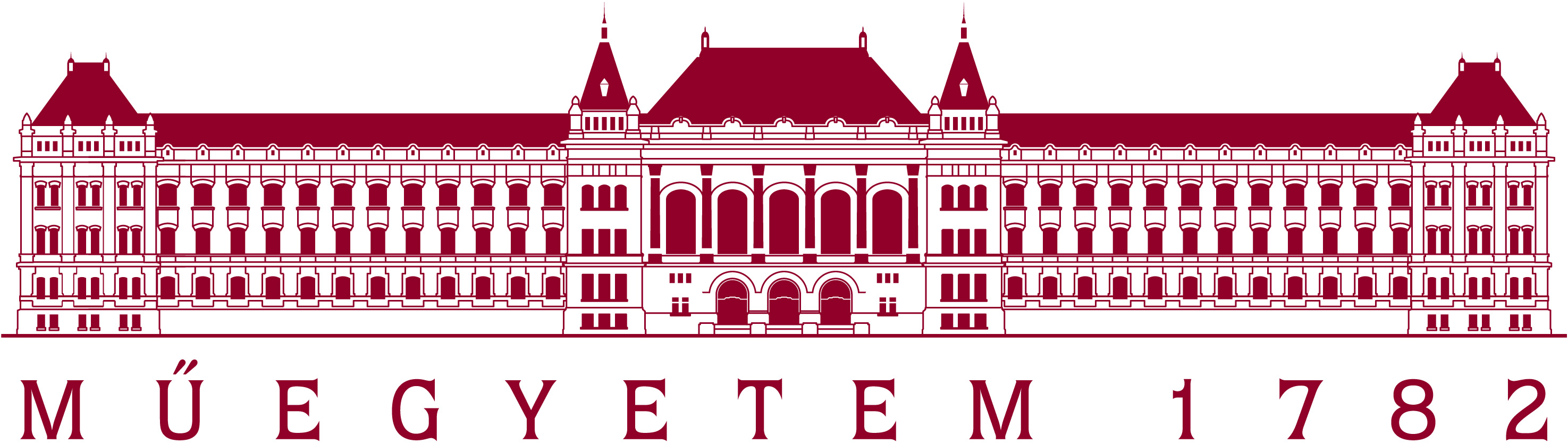 BME Logo - drawing of a university building with the founding date 1782
